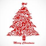 bożych narodzeń czerwieni drzewo Zdjęcia Royalty Free