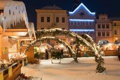 bożych narodzeń czeska litomerice rynku republika Fotografia Royalty Free