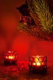 bożych narodzeń dekoraci czerwień Fotografia Royalty Free