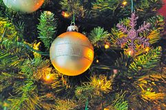 bożych narodzeń dekoraci drzewo Obraz Stock