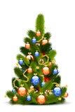 bożych narodzeń dekoraci drzewo ilustracja wektor