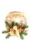 bożych narodzeń dekoraci drzwi zdjęcie stock