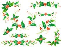 bożych narodzeń dekoraci holly Zdjęcia Royalty Free