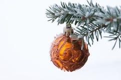 bożych narodzeń dekoraci jedlinowy drzewo Fotografia Stock