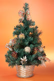 bożych narodzeń dekoraci mały drzewo obraz stock