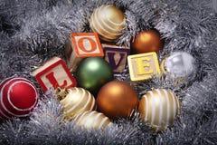 bożych narodzeń dekoraci miłość Zdjęcie Stock