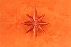 bożych narodzeń dekoraci pomarańcze gwiazda obrazy stock