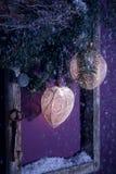 bożych narodzeń dekoraci purpury Fotografia Stock