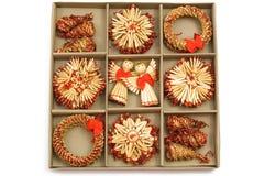 bożych narodzeń dekoraci set dziewięć set zdjęcie stock