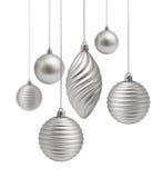 bożych narodzeń dekoraci setu srebro Obrazy Royalty Free