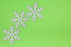 bożych narodzeń dekoraci srebra płatek śniegu trzy Obraz Stock