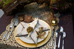 bożych narodzeń dekoraci stół Fotografia Stock