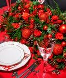 bożych narodzeń dekoraci stół Zdjęcie Royalty Free
