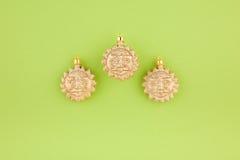 bożych narodzeń dekoraci złociści słońca trzy zdjęcie stock