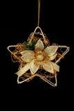 bożych narodzeń dekoraci złota gwiazda Obrazy Royalty Free