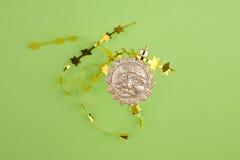 bożych narodzeń dekoraci złota słońce Zdjęcie Stock