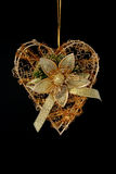 bożych narodzeń dekoraci złota serce Obraz Stock