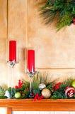 bożych narodzeń dekoracj kominka salopa obraz royalty free