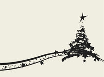 bożych narodzeń dekoracyjny projekta drzewo Zdjęcia Royalty Free