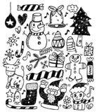 bożych narodzeń doodles Fotografia Royalty Free