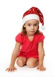 bożych narodzeń dziewczyny kapelusz Zdjęcie Royalty Free