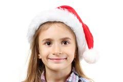 bożych narodzeń dziewczyny kapelusz Fotografia Stock