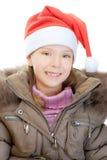 bożych narodzeń dziewczyny kapelusz trochę Zdjęcie Stock