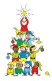 bożych narodzeń elfa drzewo Zdjęcia Stock