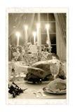 bożych narodzeń fotografii stołu rocznik zdjęcie royalty free