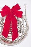 bożych narodzeń francuskiego rogu odosobniony faborek Obrazy Royalty Free
