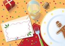 bożych narodzeń gość restauracji stół royalty ilustracja