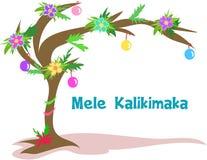 bożych narodzeń hawajczyka drzewo ilustracja wektor