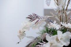 Bożych Narodzeń i nowy rok kwiatów skład Obraz Royalty Free