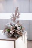 Bożych Narodzeń i nowy rok kwiatów skład Fotografia Royalty Free