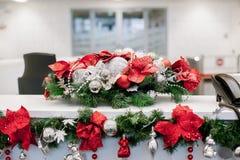 Bożych Narodzeń i nowy rok kwiatów skład Zdjęcia Stock