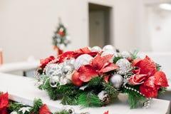 Bożych Narodzeń i nowy rok kwiatów skład Zdjęcie Stock