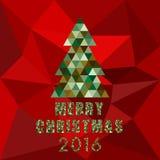 2016 bożych narodzeń i szczęśliwego nowy rok karty wektoru tło royalty ilustracja