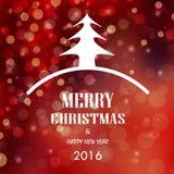 2016 bożych narodzeń i szczęśliwego nowy rok karty wektoru tło ilustracja wektor
