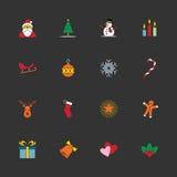 bożych narodzeń ikony nowy ustalony rok Zdjęcie Stock
