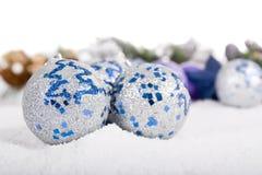 bożych narodzeń imitaci ornamentu śnieg Fotografia Royalty Free