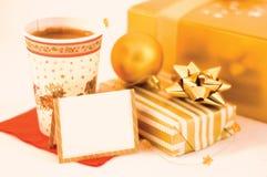 bożych narodzeń kawy prezent Fotografia Stock
