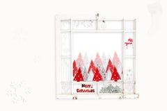 bożych narodzeń kolażu czerwony biel Zdjęcia Royalty Free