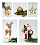 bożych narodzeń kolażu dekoracje Fotografia Stock