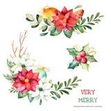 bożych narodzeń kolekci nowy rok ilustracja wektor