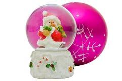 bożych narodzeń kuli ziemskiej śniegu pamiątka zdjęcie royalty free