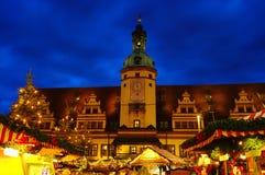 bożych narodzeń Leipzig rynek Fotografia Royalty Free