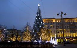 bożych narodzeń Moscow drzewo Obrazy Royalty Free