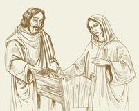 bożych narodzeń narodzenia jezusa scena Zdjęcie Stock