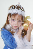 bożych narodzeń odzieżowa dziewczyny trochę zabawka Zdjęcia Stock