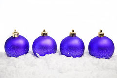 bożych narodzeń ornamentów śnieg Fotografia Royalty Free